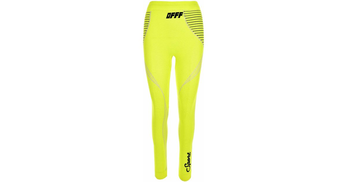 e108aa3ac5c83 Off-White c/o Virgil Abloh Athletic Leggings Yellow in Yellow - Lyst