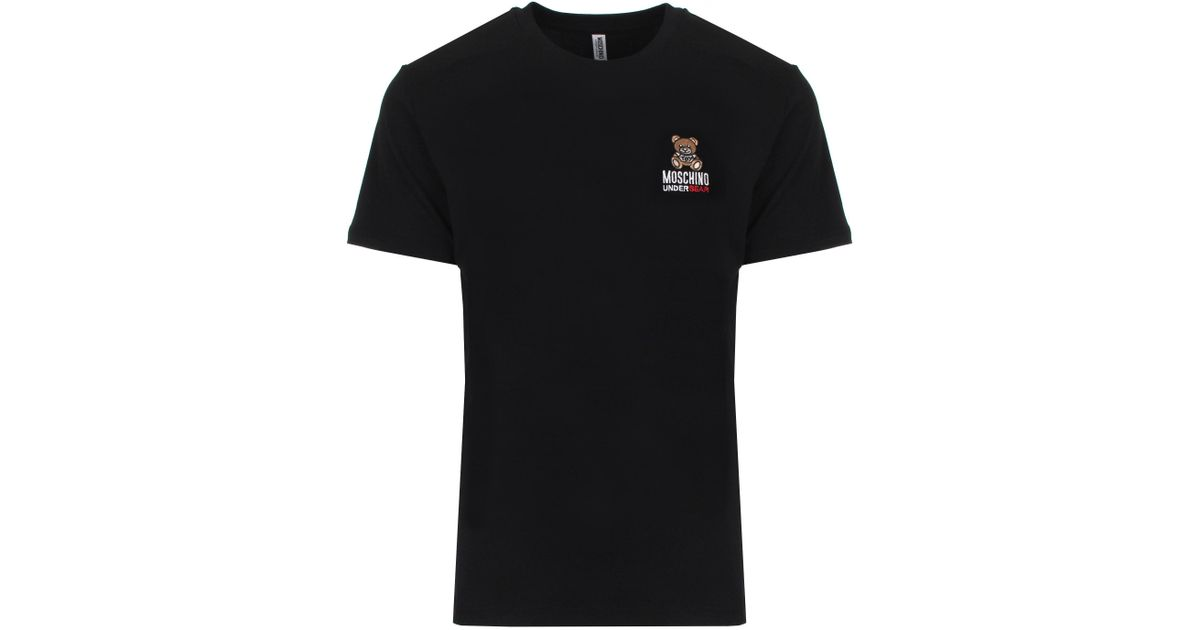627841d4 Moschino Embroidered Teddy T-shirt Black in Black for Men - Lyst