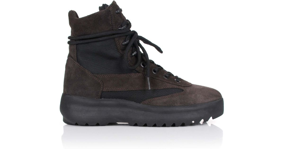 new style 8fd28 fc75b Yeezy Season 5 Military Boots Oil in Black for Men - Lyst