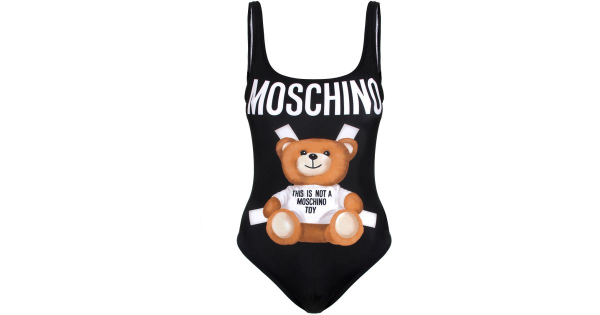 a41f376f3e Moschino Black Bear Swimsuit in Black - Lyst