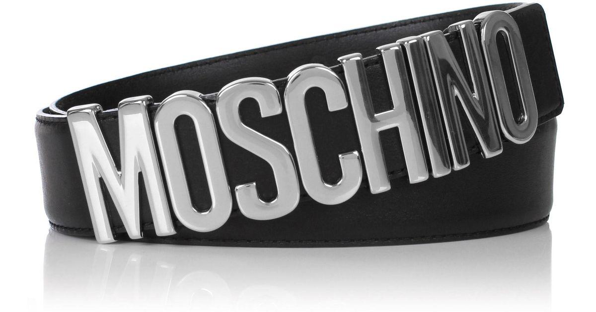 3652bd7f3f0 Moschino Classic Logo Belt in Black for Men - Lyst