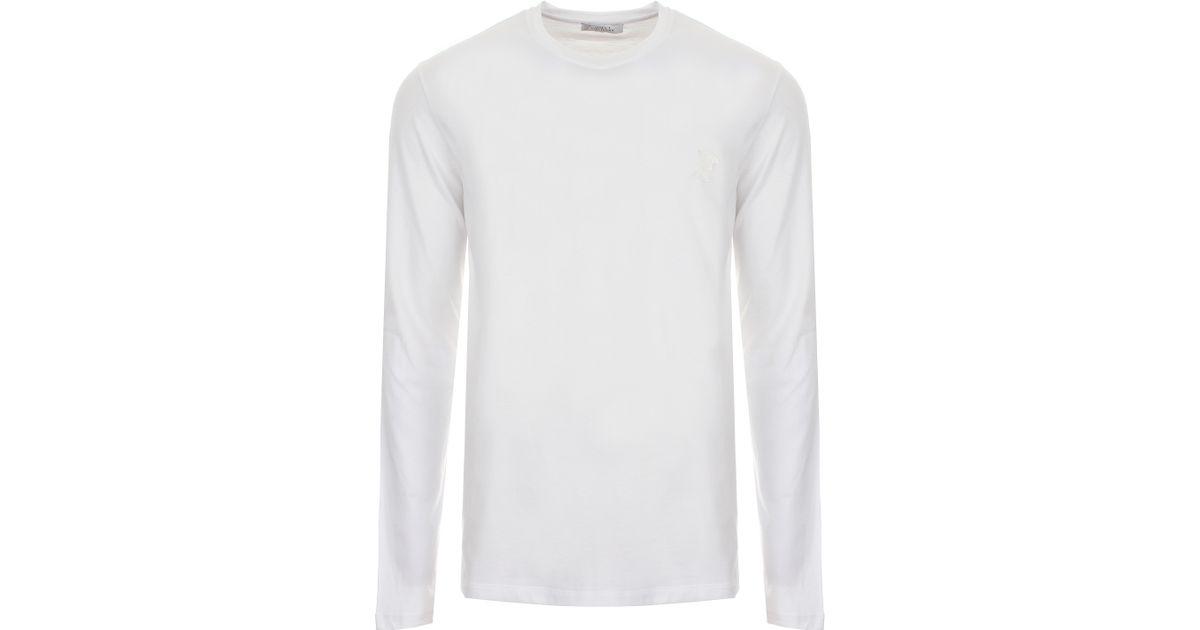 cdb09533 Versace Half Medusa Logo Long Sleeve T-shirt White in White for Men - Lyst