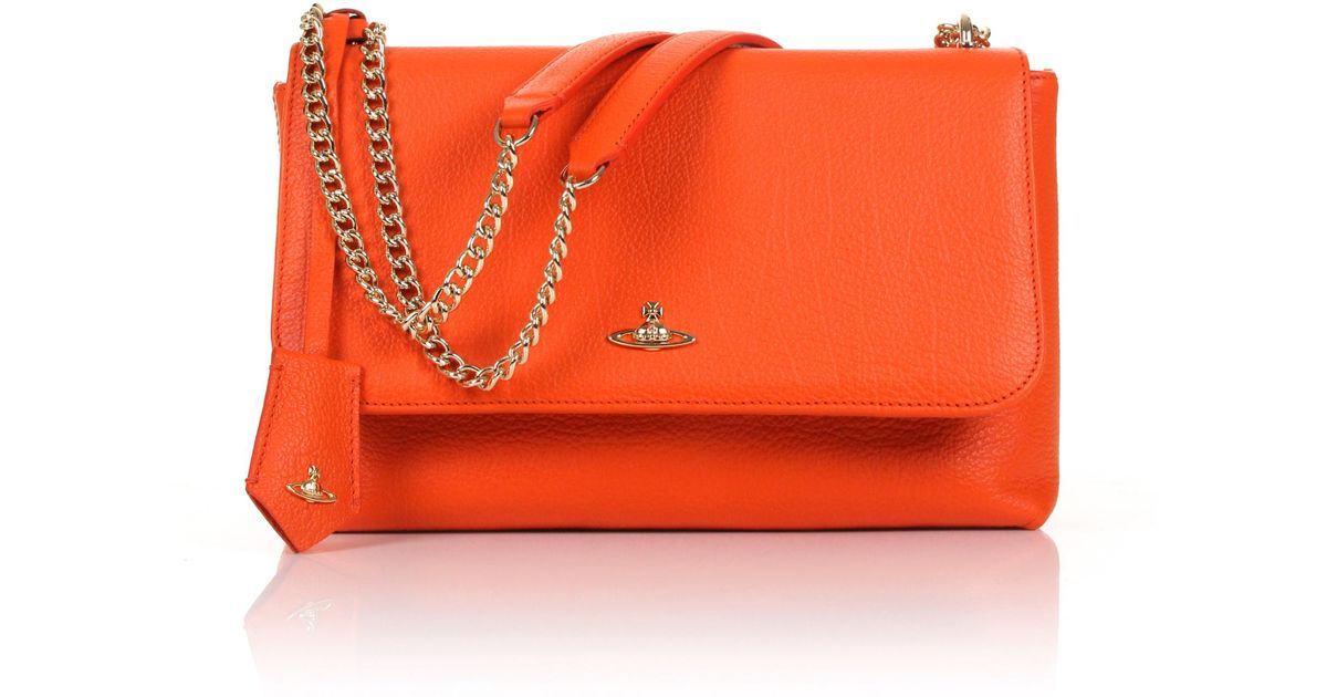 1ab9aa1f6d Lyst - Vivienne Westwood Balmoral 131116 Large Bag With Flap Orange in  Orange