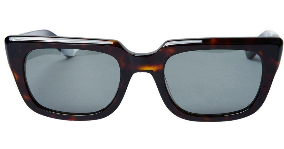 70f516adb8 Ksubi K Serpent Shiny Dark Tort Sunglasses in Brown for Men - Lyst