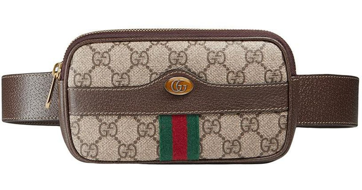 3964f8dfe66199 Lyst - Gucci Ophidia Gg Supreme Belted Iphone Case