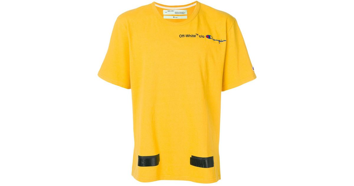 a22c4a8c Off-White c/o Virgil Abloh X Champion Arrows T-shirt in Yellow for Men -  Lyst
