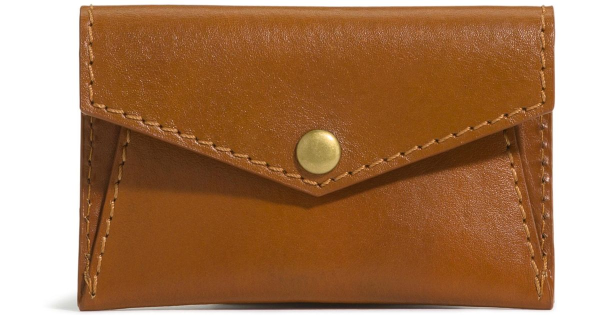Lyst - G.H.BASS Calista Leather Card Case in Brown 257fd6c0fd