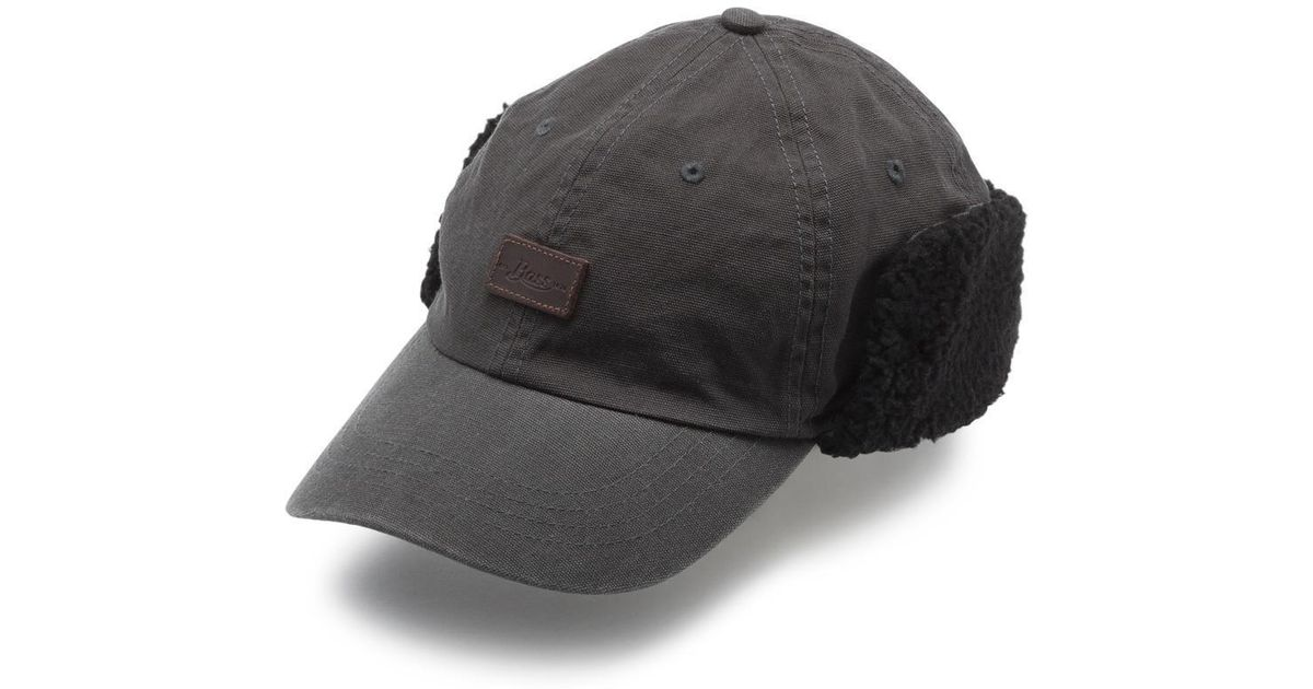Lyst - G.h. bass & co. Waxed Canvas Trapper Hat in Gray for Men