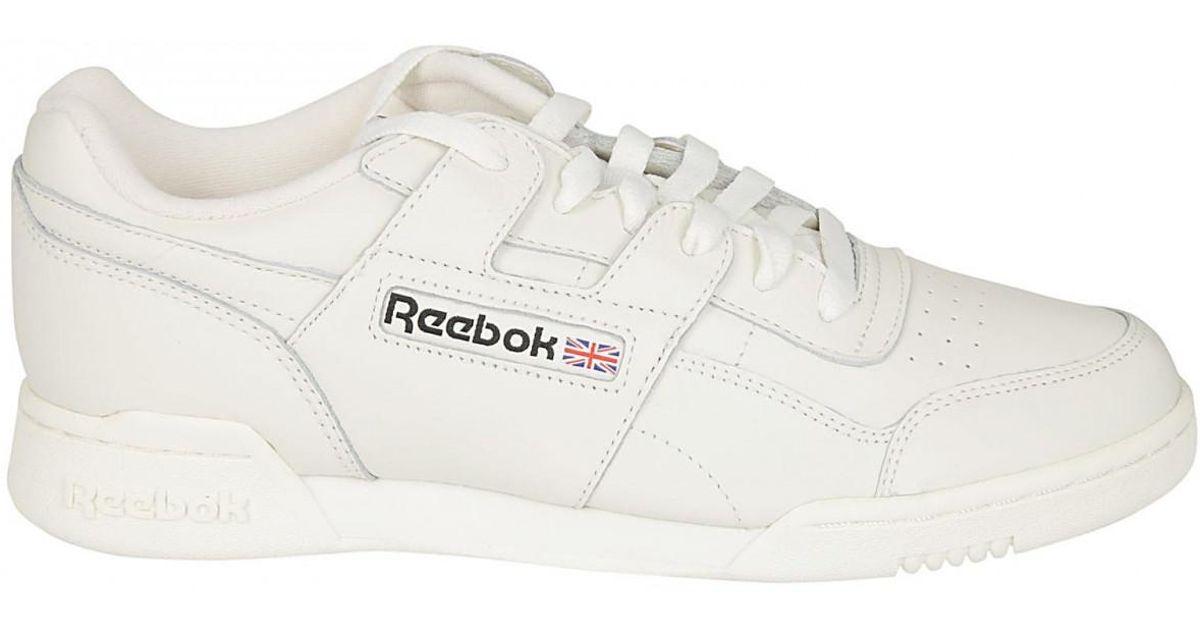 f6a417e4cb18e Lyst - Reebok REEBOK SNEAKER WORKOUT PLUS BIANCO in White for Men