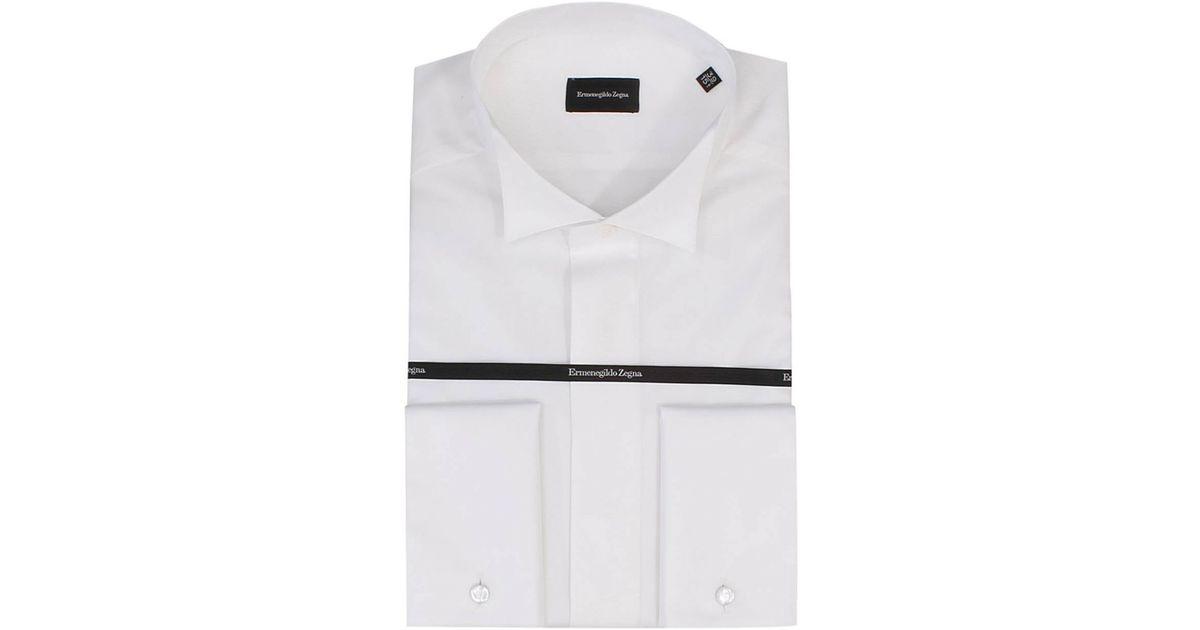 Lyst - Ermenegildo Zegna Men s Shirt in White for Men 26947b2535f