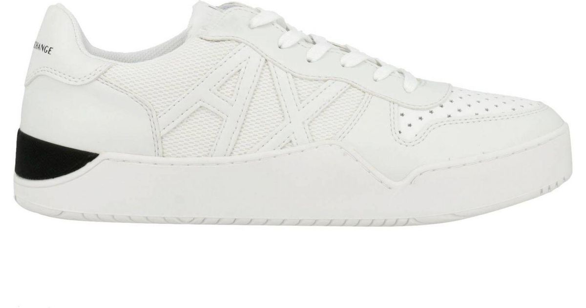 b68582b73a28 Lyst Armani Exchange Sneakers Men In White For Men