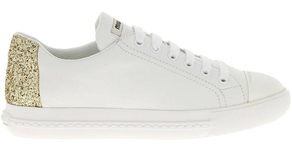 d40ef7f18e3 Lyst - Miu Miu Sneakers Shoes Women in White