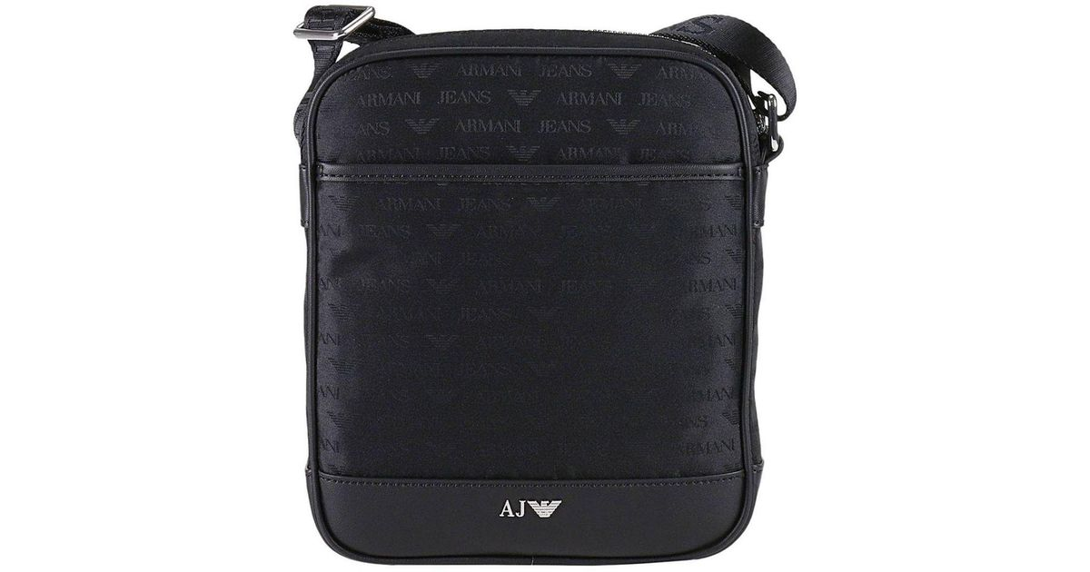 3f01b8ce23a4a Armani Jeans Bags Men in Black for Men - Lyst