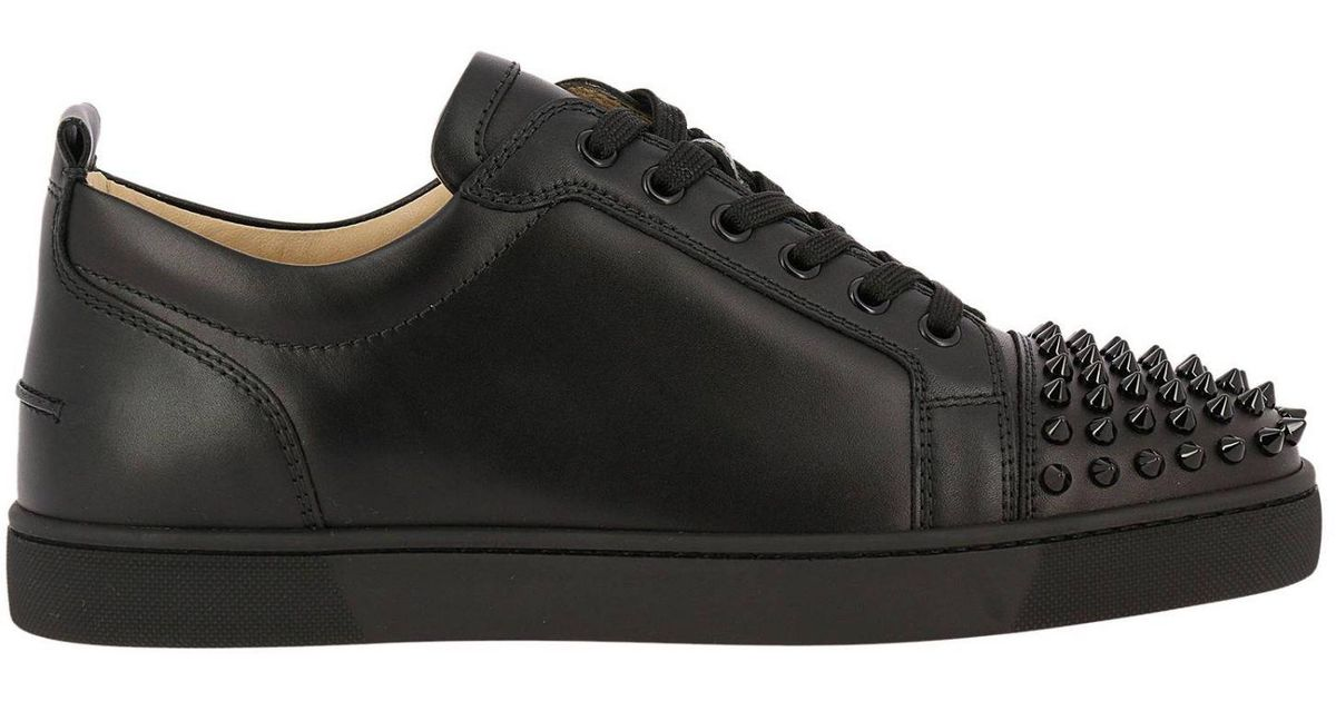 Christian Louboutin Sneakers Shoes Men in Black for Men - Lyst d7a52894d081