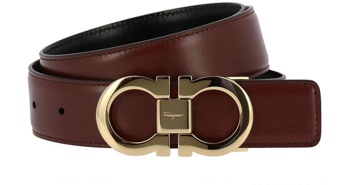 cb5240fc209e9 inexpensive salvatore ferragamo double gancini leather belt 95b24 3a5d4   authentic lyst ferragamo belt men in brown for men d0973 7a381