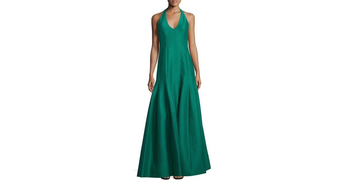 Lyst - Halston Heritage Solid Tulip Gown in Green