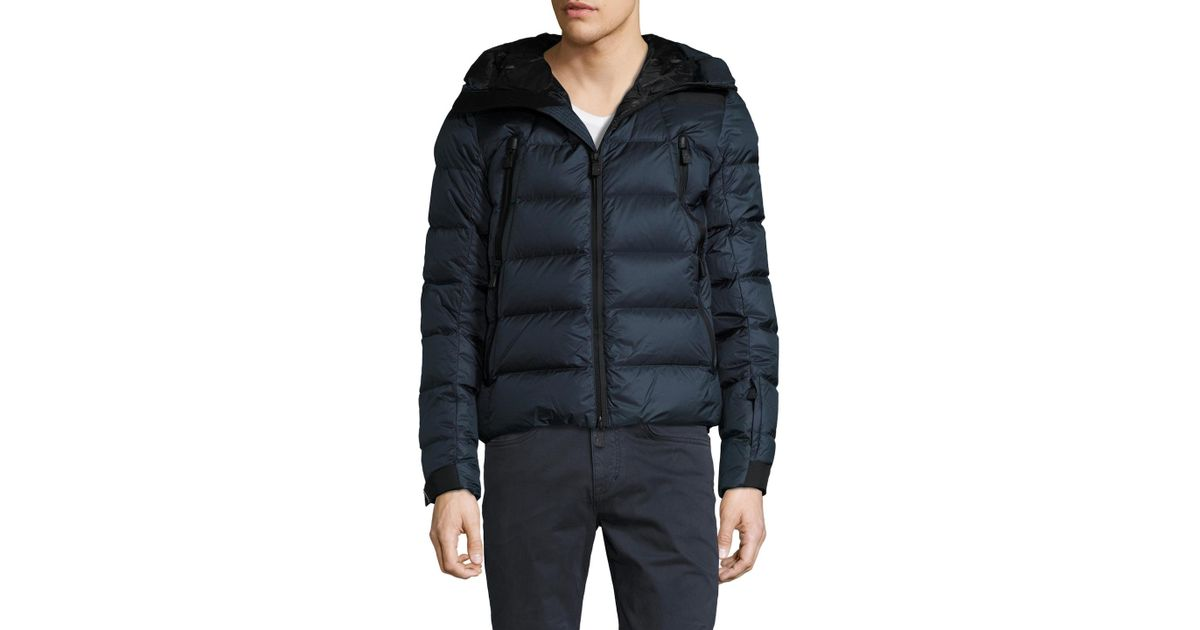 c661c591b5e85 Lyst - Moncler Grenoble Camurac Quilted Hooded Jacket in Blue for Men
