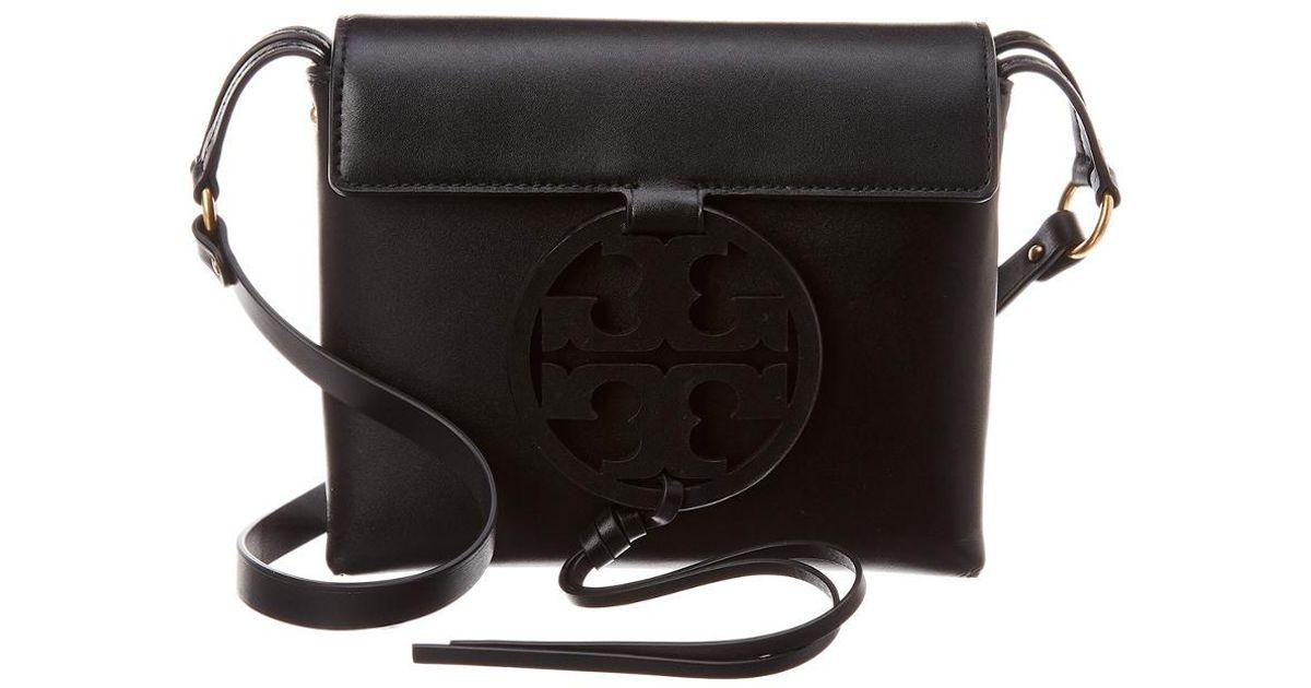 0329733c6d3 Tory Burch Miller Leather Crossbody in Black - Lyst