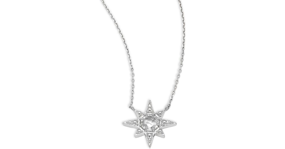 Lyst anzie sapphire sterling silver star pendant necklace in lyst anzie sapphire sterling silver star pendant necklace in metallic mozeypictures Image collections