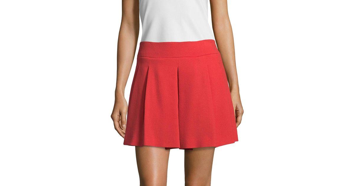 95ecaafff8 Lyst - RED Valentino Pleated Mini Skirt in Orange