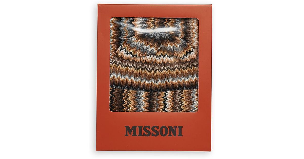 Missoni Fringe Trim Hat   Scarf Set in Brown - Lyst 4b456c997380