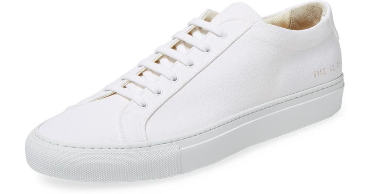 429680917317 Lyst - Common Projects Canvas Achilles Low Top Sneaker in White for Men