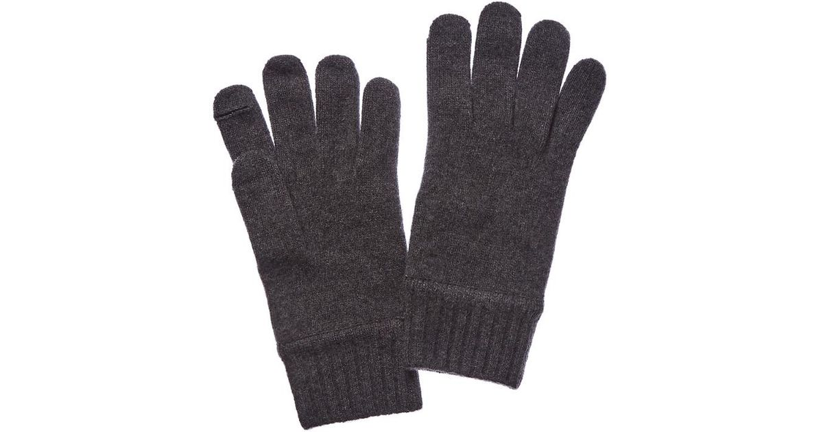83cd1d10b50 Lyst Portolano Men S Dark Heather Grey Cashmere Gloves In Gray For
