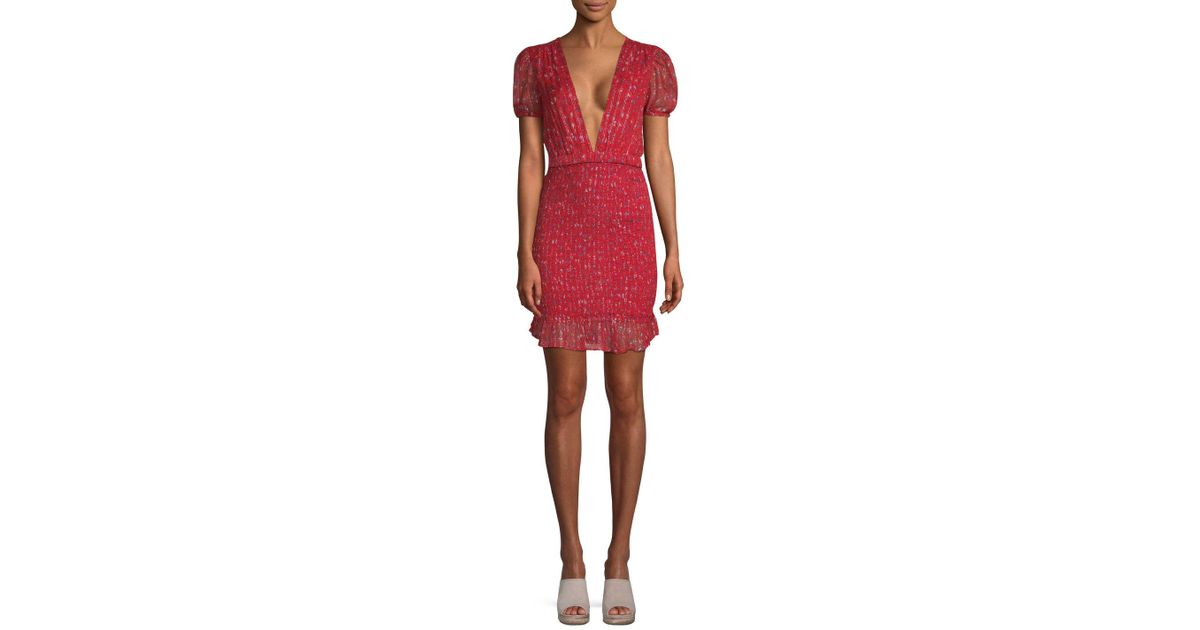 9472e94920551 Free People Baby Love Smocked Bodycon in Red - Lyst