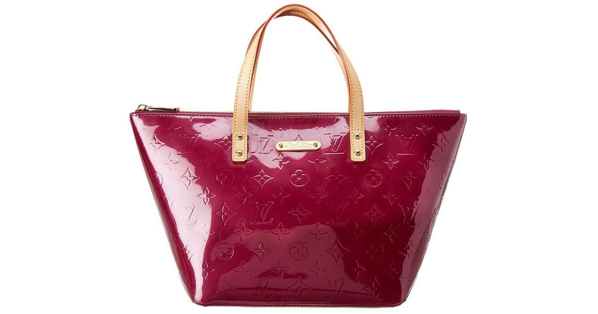 b2af67eef4ed Lyst - Louis Vuitton Purple Monogram Vernis Leather Bellevue Pm in Purple