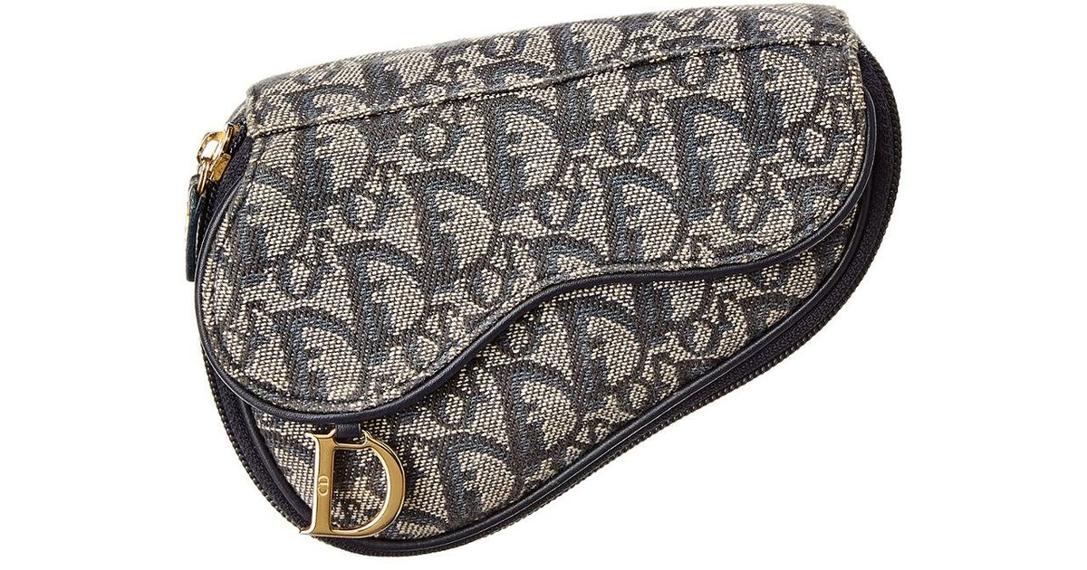 cd1e35cb7336 Dior Navy Trotter Canvas Saddle Pouch in Blue - Lyst