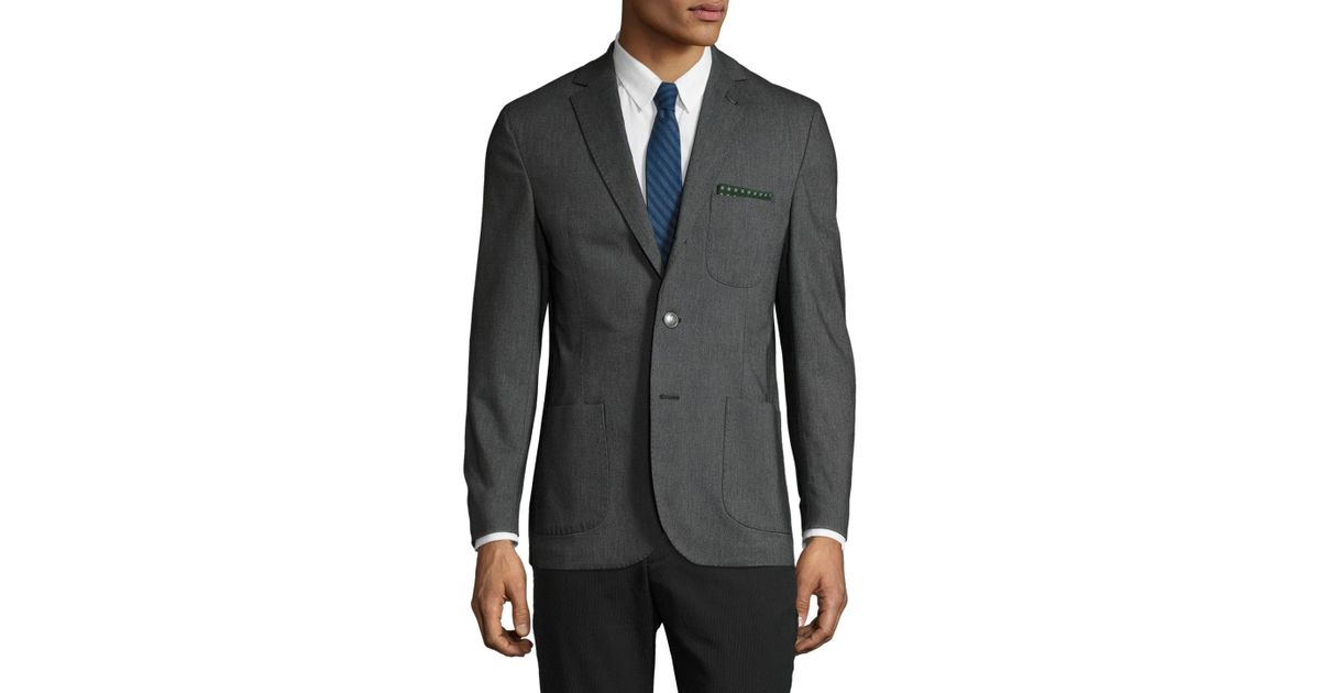 196d73dfae4 Michael Bastian Wool Pick Stitch Notch Lapel Blazer in Gray for Men - Lyst