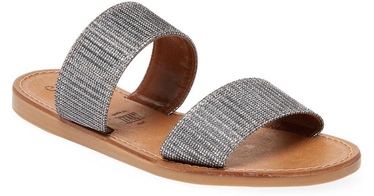 2401d171671fd4 Lyst - Seychelles Two-strap Flat Sandal in Brown