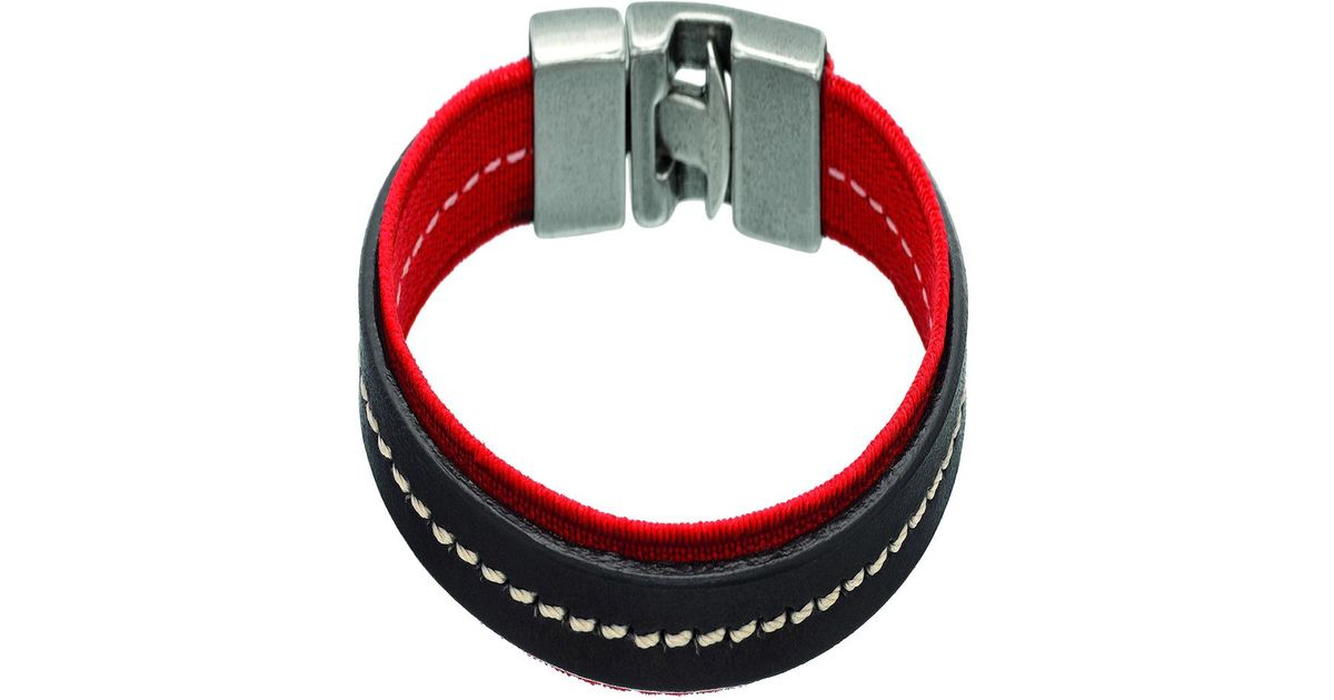 5f938bf89e0d Lyst - Uno De 50 Stretched Bracelet in Red for Men