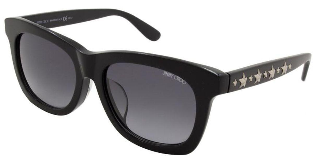 b2635b837b4 Jimmy Choo Women s Sasha f s 53mm Sunglasses in Black - Lyst