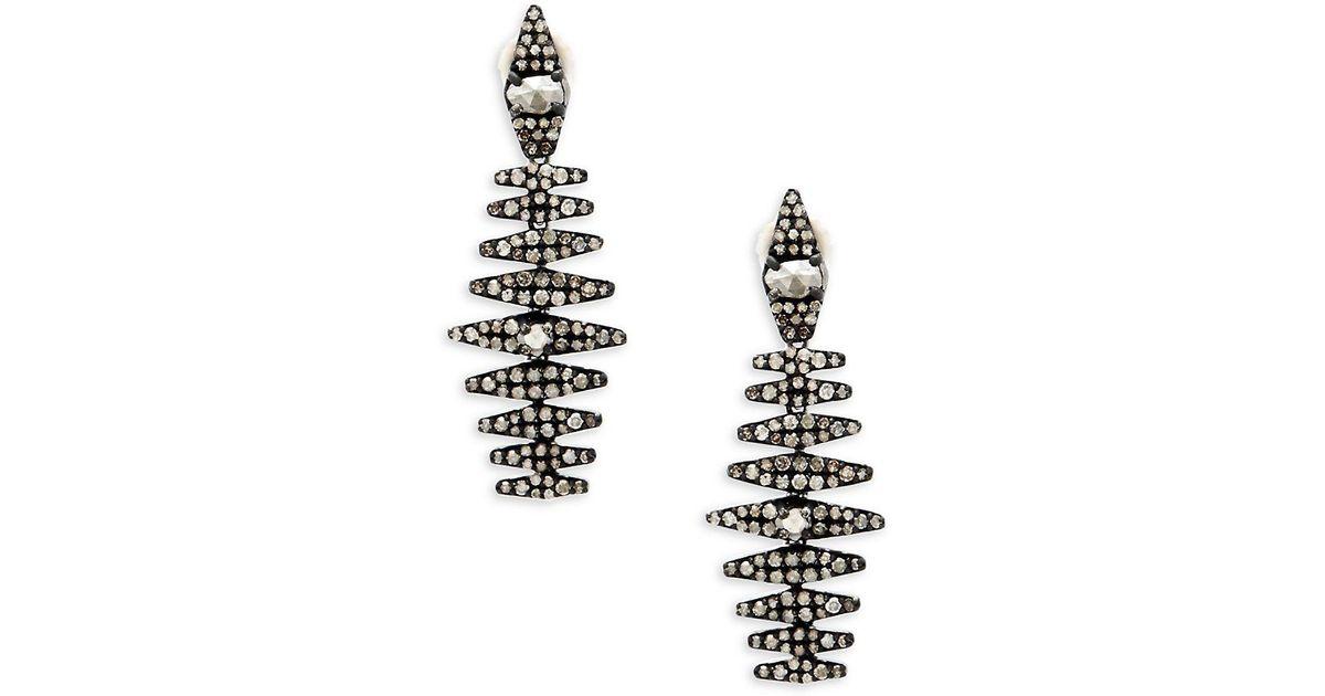 Bavna Diamond Pavé Hoop Earrings p8XNxhBz