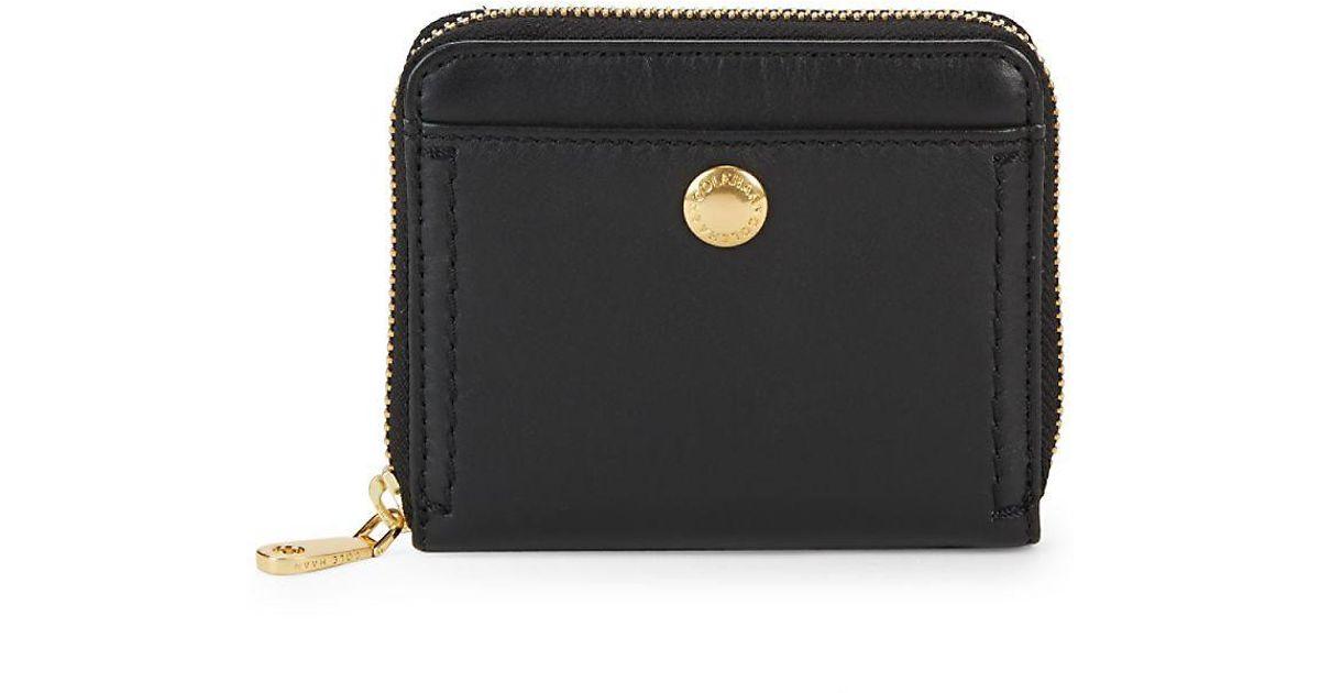 b84f2b134c6 Lyst - Cole Haan Benson Ii Leather Zip-around Wallet in Black