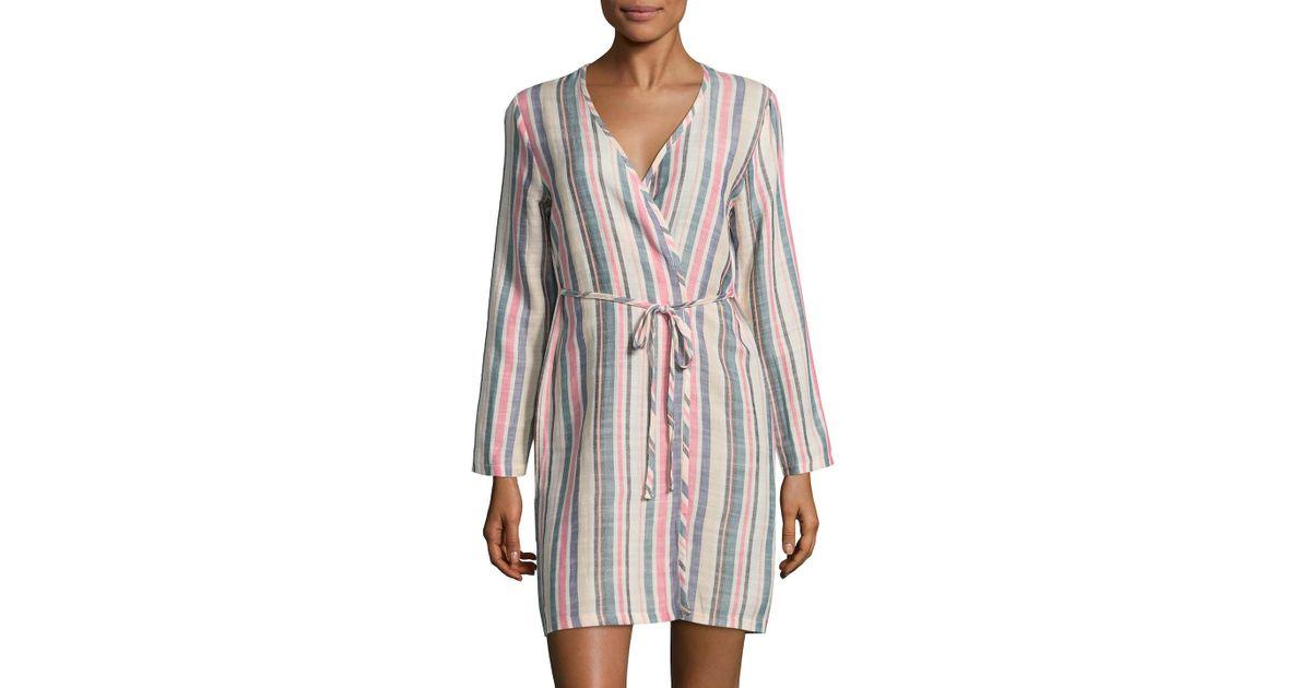 2e14b41a07 Lyst - Solid   Striped Erin Striped Robe