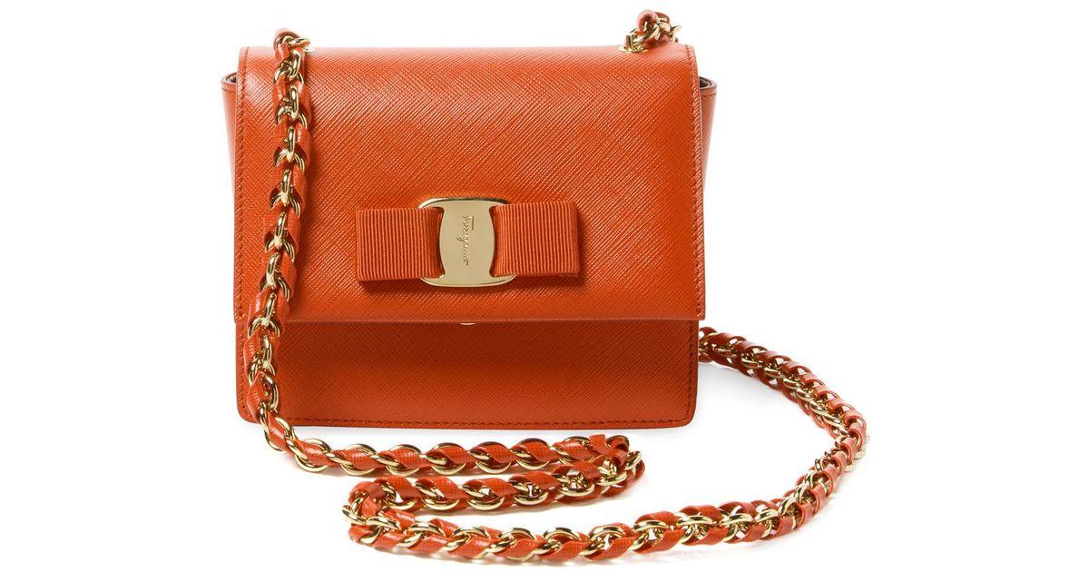 Lyst - Ferragamo Ginny Mini Leather Crossbody 903862cd507a5