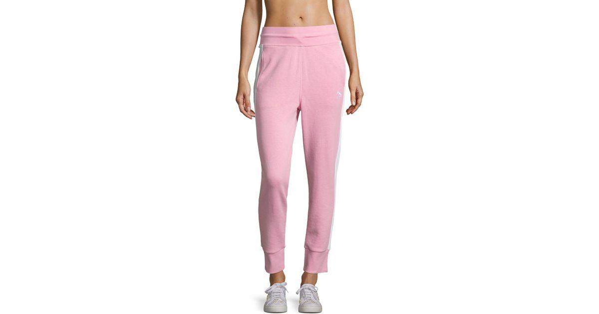 aeccb4be442de1 PUMA Archive Logo T7 Sweatpants in Pink - Lyst