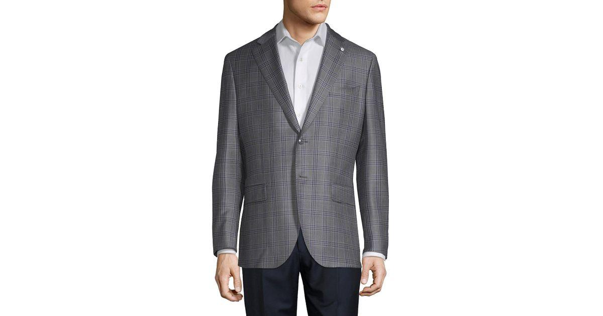 6d89e5c2d6 Lubiam - Gray Glen Plaid Wool Sportcoat for Men - Lyst