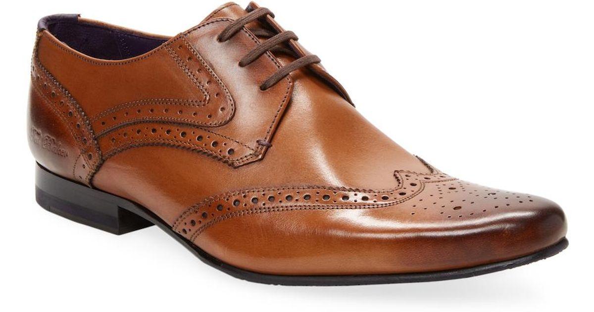 cd28563664fb Lyst - Ted Baker Hann 2 Derby Shoe in Brown for Men