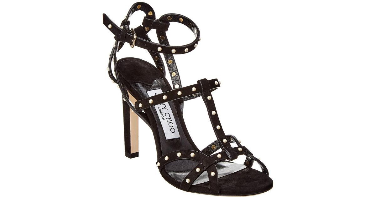 acaea200e Lyst - Jimmy Choo Beverly Strappy Stiletto Sandals in Black - Save 50%