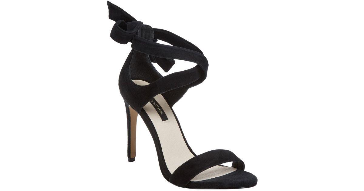 329ec21b0ee Lyst - Ava   Aiden Bow Back High Heel Sandal in Black