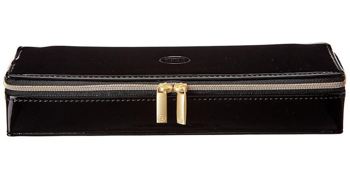 c6f7ee4d577c Lyst - Chanel Black Vinyl Sublimage Cosmetic Bag in Black
