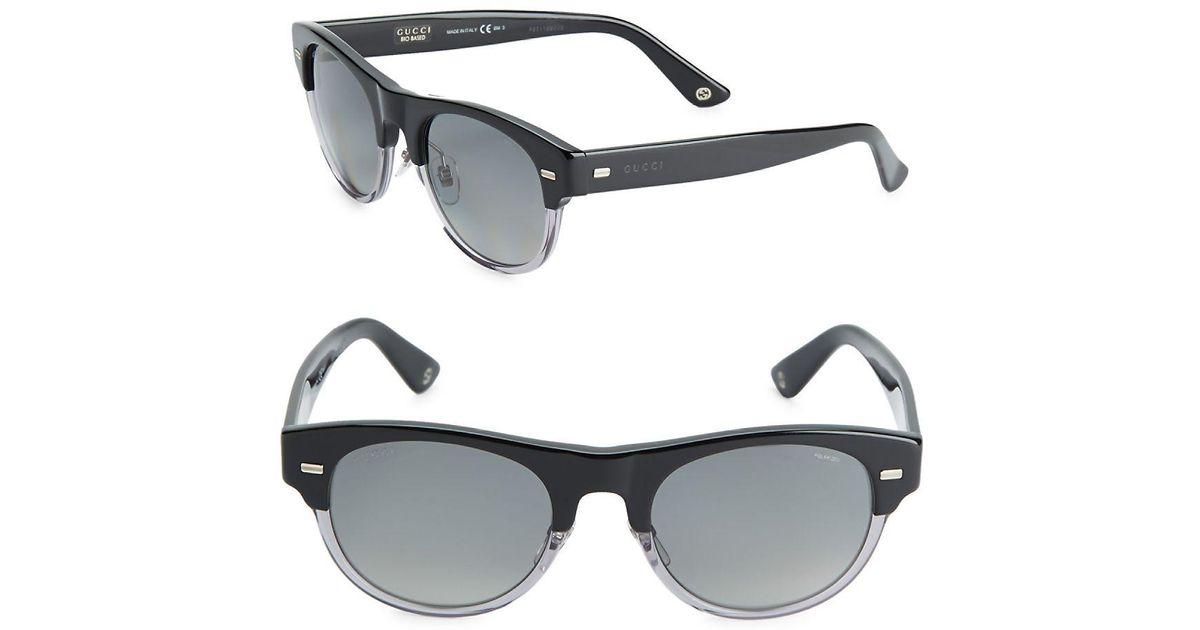 a14923ca4f8 Lyst - Gucci 53mm Clubmaster Sunglasses
