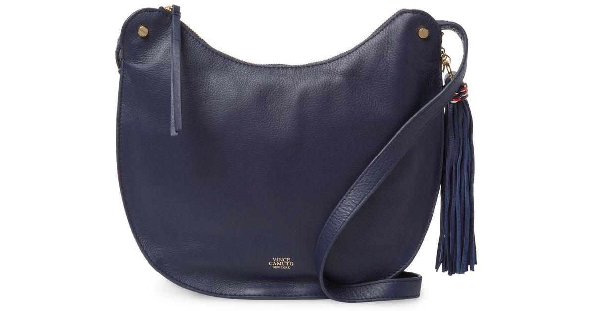 b8e596d68b Lyst - Vince Camuto Chana Leather Crossbody Bag in Blue