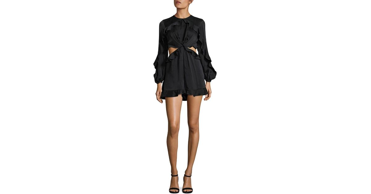 650448faef Zimmermann Winsome Flutter Playsuit in Black - Lyst