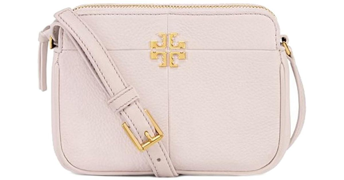 6cb9740e4a3 Tory Burch Ivy Micro Leather Crossbody in Pink - Lyst