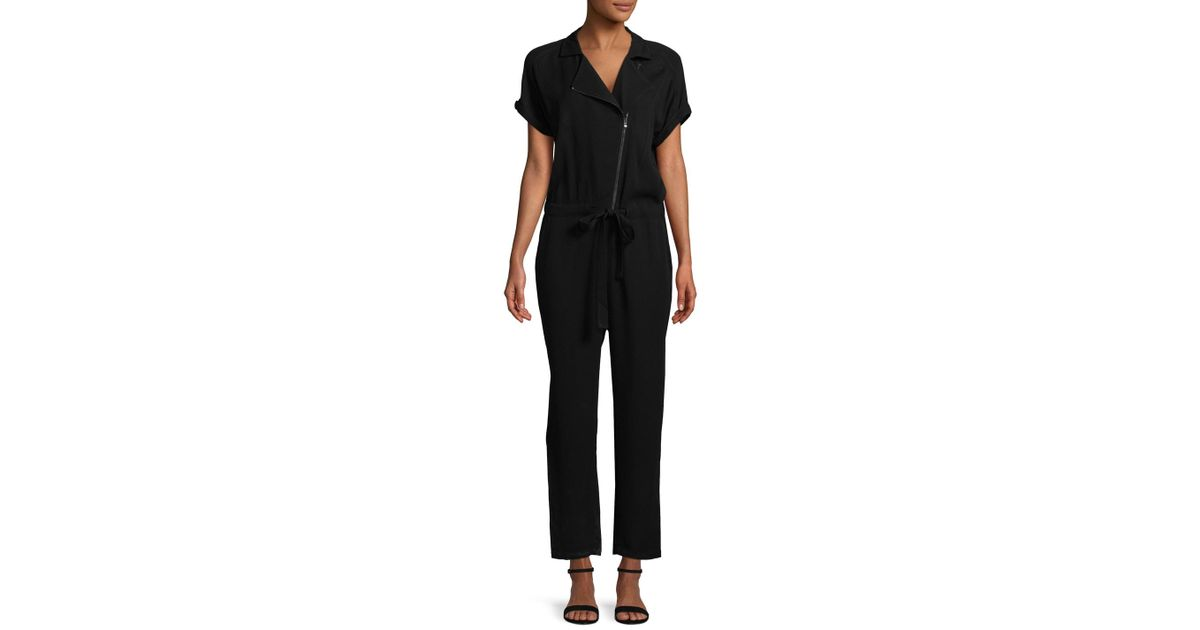 e4c0845a7512 Lyst - Armani Exchange Popover Jumpsuit in Black