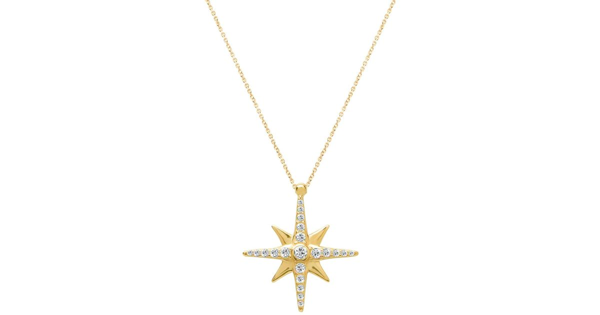 pendant jewellery necklaces star zirconia silver embellished zoom sterling necklace cubic north simply